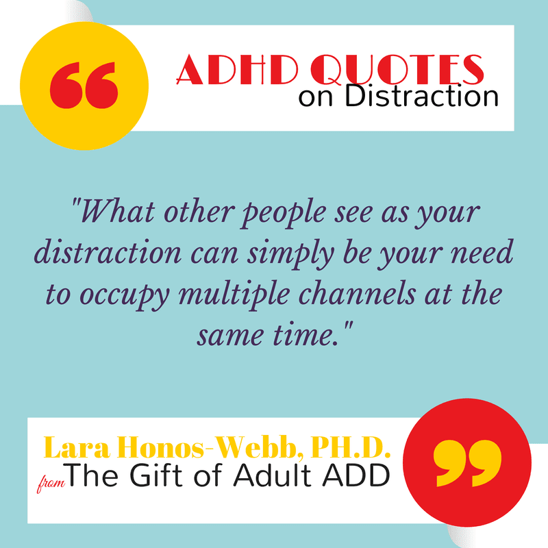 adhd quote about distraction