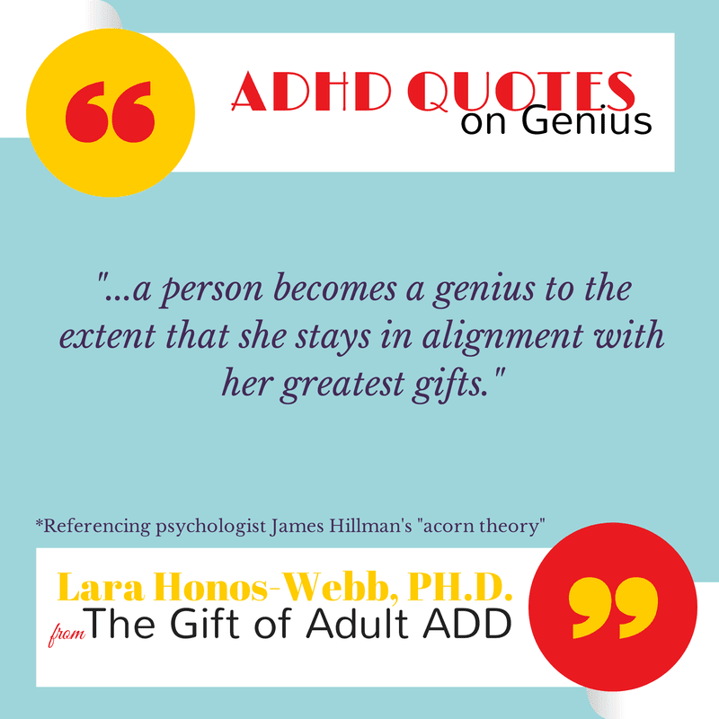 adhd quote about genius gift