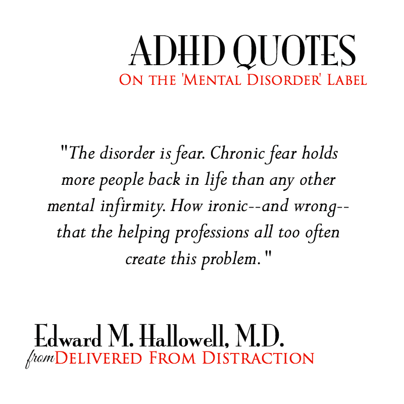 adhd quote about fear