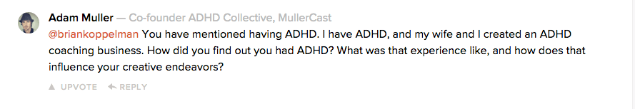 question about adhd and creativity