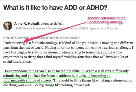 What is it like to have ADD or ADHD