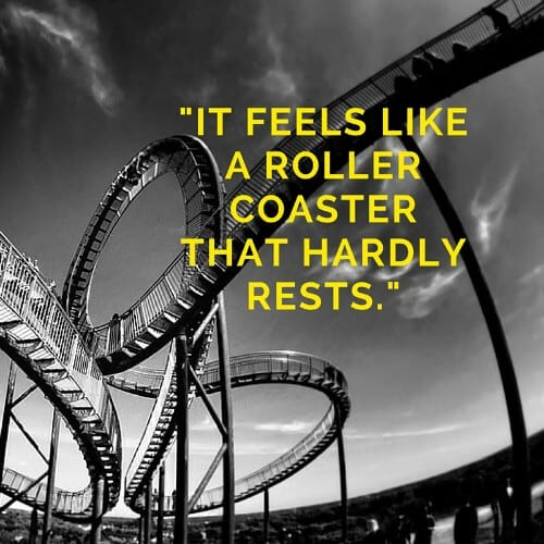 adhd feels like a roller coaster