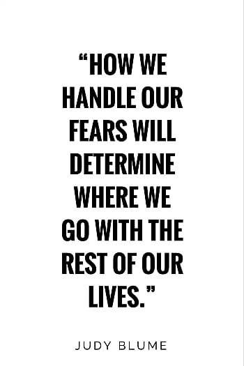 Judy Blume fear quote